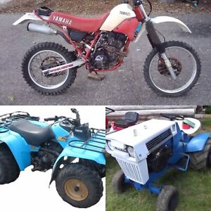 Looking for your old dirt bikes, atv's, lawn mowers etc