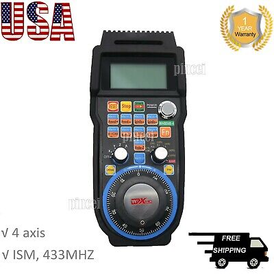 CNC MACH3 Wireless Electronic Handwheel 4 Axis Manual Controller Handle MPG USA