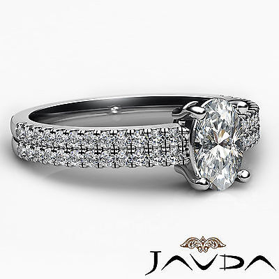 Oval Diamond Engagement Double Prong Set Ring GIA Certified F Color VVS2 1.21Ct 2