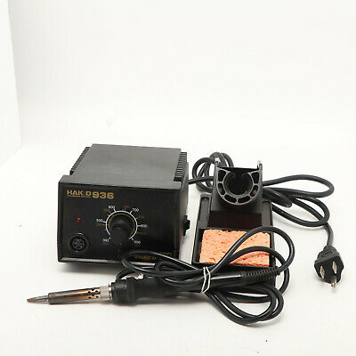 Hakko 936-13 Soldering Station Wlarge Iron 908 And Stand