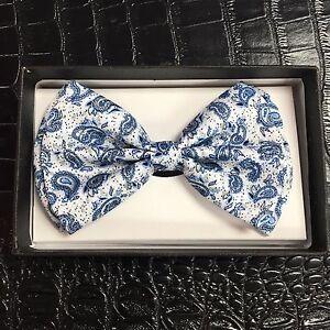 Tuxedo Unique Style Blue Germs Style Neckwear Adjustable Adult Men Bow Tie