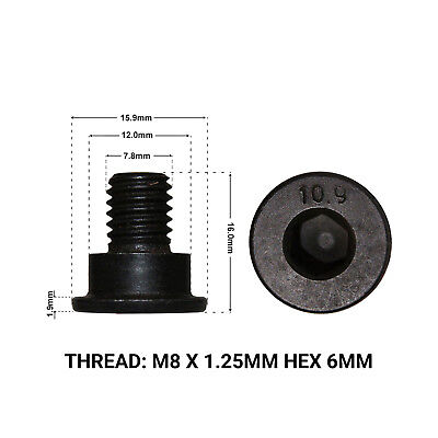 FRONT BRAKE DISC RETAINING SCREWS FITS: BMW 3 SERIES 318 E46 98-05 2 DRS1662H