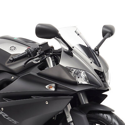 <em>YAMAHA</em> YZF125R 2008 2011 BLACK FAIRING MIRRORS PAIR YZF R 125 REAR VIE