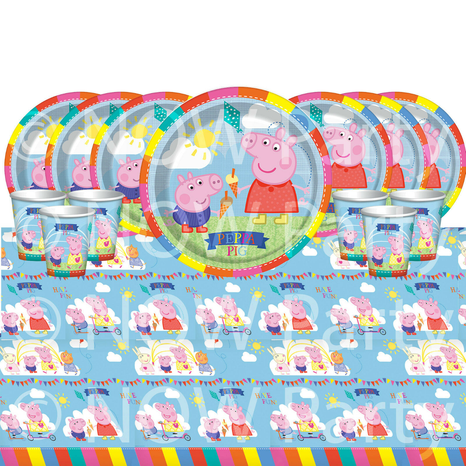 PEPPA PIG Tableware Plates Cups Napkins Tablecover PARTY KITS 8 - 48 Guests | eBay  sc 1 st  eBay & PEPPA PIG Tableware Plates Cups Napkins Tablecover PARTY KITS 8 - 48 ...