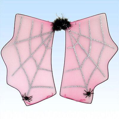 Spinnenflügel Flügel Spinnennetz mit Spinnen für Kostüm Spinnenfrau Theater
