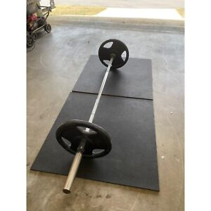 Olympic Bar, Weights and Mats Package