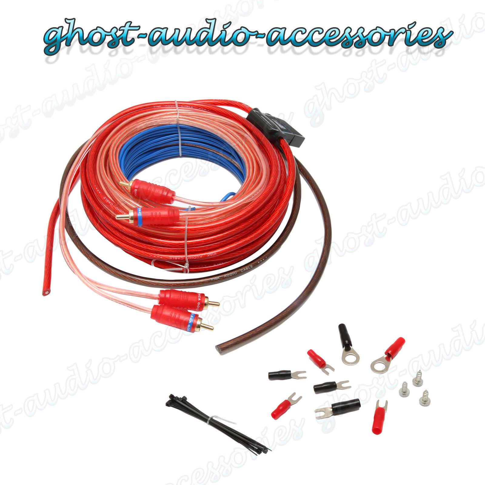 10 gauge Car Amplifier Amp Wiring Kit 250 - 1000w watts  sc 1 st  eBay : 10 gauge amp wiring kit - yogabreezes.com