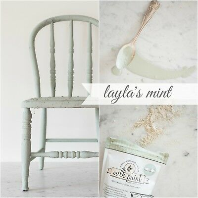 ( Miss Mustard Seed's Milk Paint - LAYLA'S MINT Green - Furniture Painting DIY  )