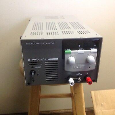Kikusui Pan 16 30a Regulated Dc Power Supply