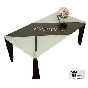 Tavolino rr design moderno salotto soggiorno in vetro for Design d occasione