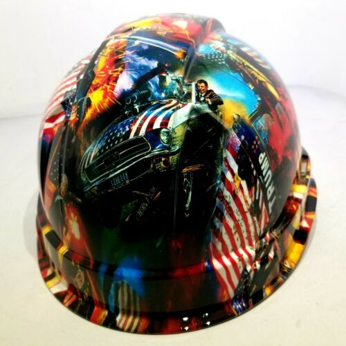 Hard Hat Cap style Custom hydro dipped DONALD TRUMP MAGA FACTORY APPROVED NEW 3