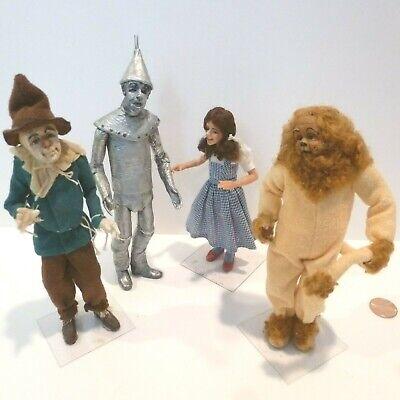 Tin Man Lion - MINIATURE DOLLS TIN MAN, LION, SCARECROW AND DOROTHY FABULOUS SET ARTISAN MADE