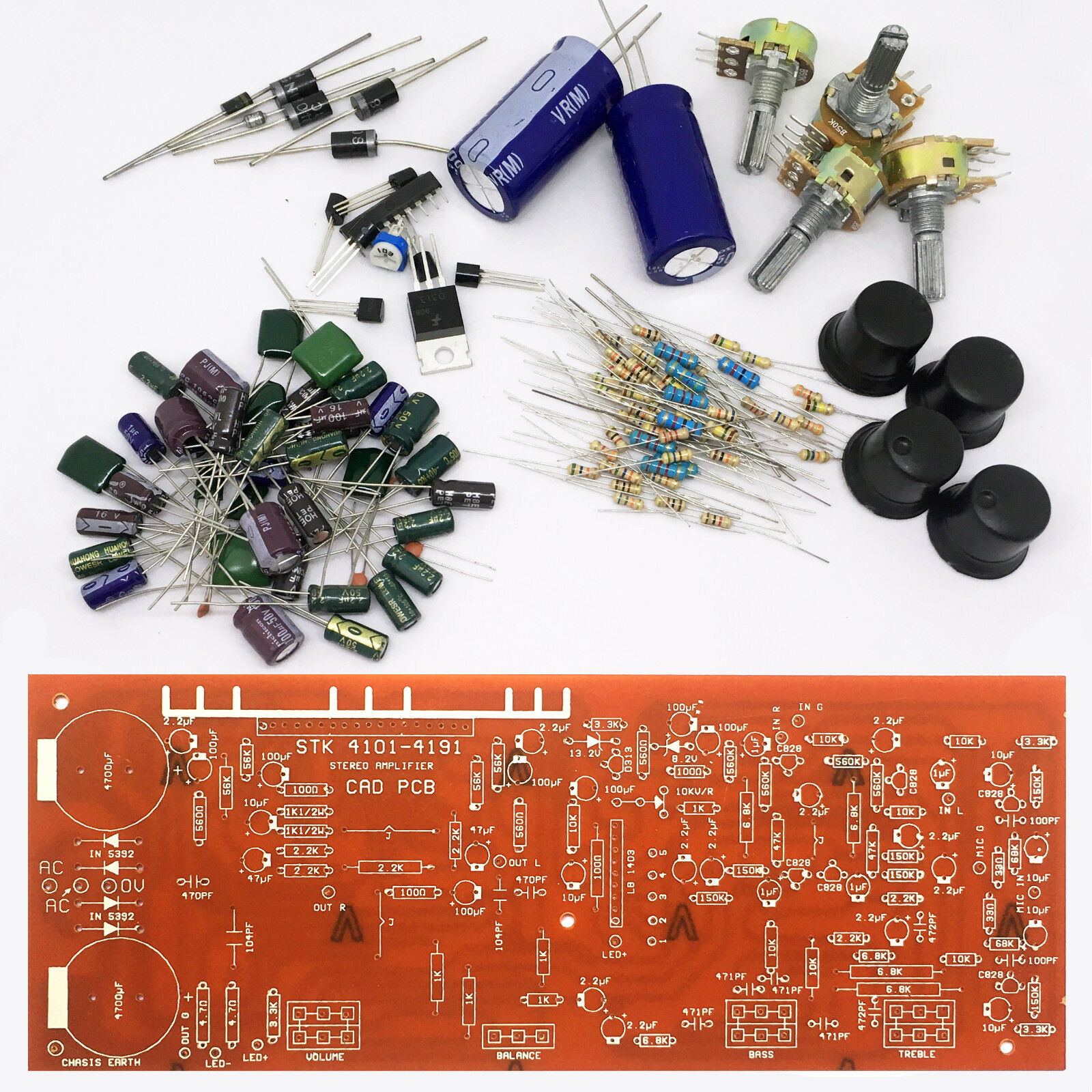 Stk 4101 4191 100w Power Amplifier With Pre Amp Mic Tone Ccl Anti Etching Pcb Circuit Board Ink Marker Pen For Diy Ebay Ctrl Kit