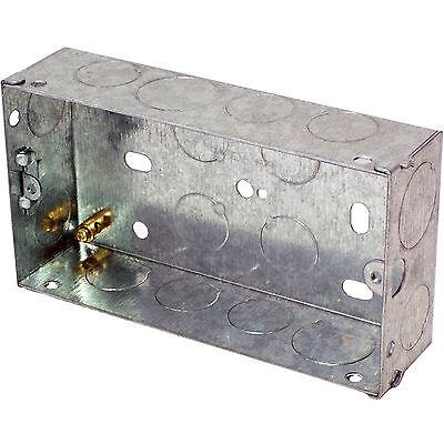 1 Gang Brick Wall Hole Pattress 16mm Single Metal Flush Mounted Back Box