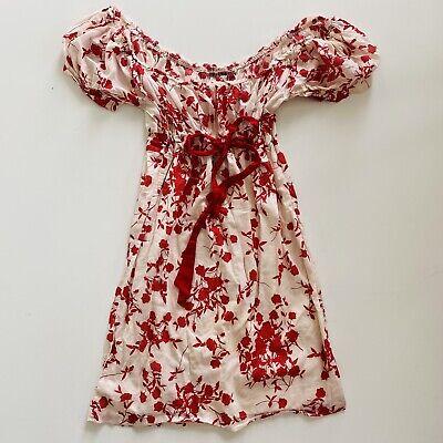 Anthropologie Velvet by Graham & Spencer Women's Poppy Empire Puffed Dress Small