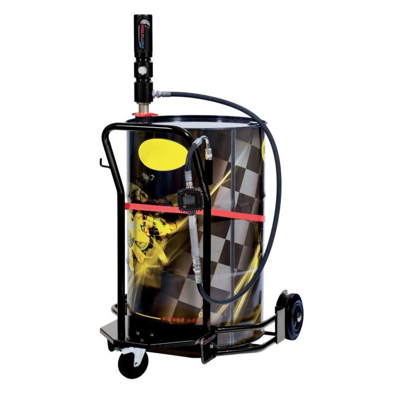 Wolflube Wheeled Oil Set – for 55 GAL Drums – 3:1 - Digital Meter