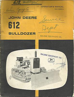 John Deere 612 Bulldozer Operators Manual