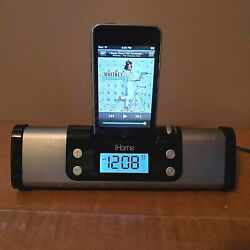 iHome iPod Touch iPhone Portable Alarm Clock Speaker Docking Station, Model iP16