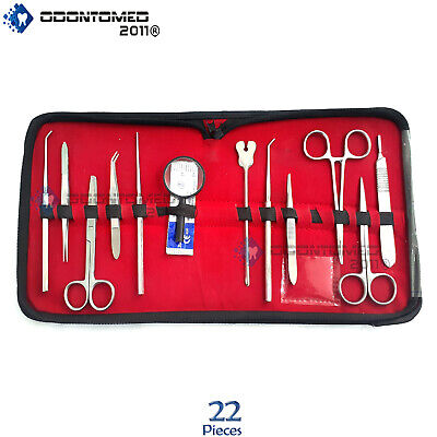 22 Pcs Advanced Dissection Kit For Anatomybiologybotanystudentsteachers