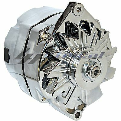 CHROME ALTERNATOR FOR CHEVROLET CHEVY GMC JEEP GM GMC PICKUP 10SI 3WIRE HD 110A