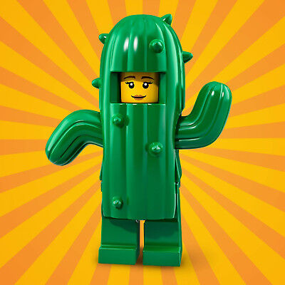 LEGO 71021 Minifguren Serie 18 Party - Kaktus Mädchen / Cactus Girl CMF (Kaktus Kostüm Mädchen)