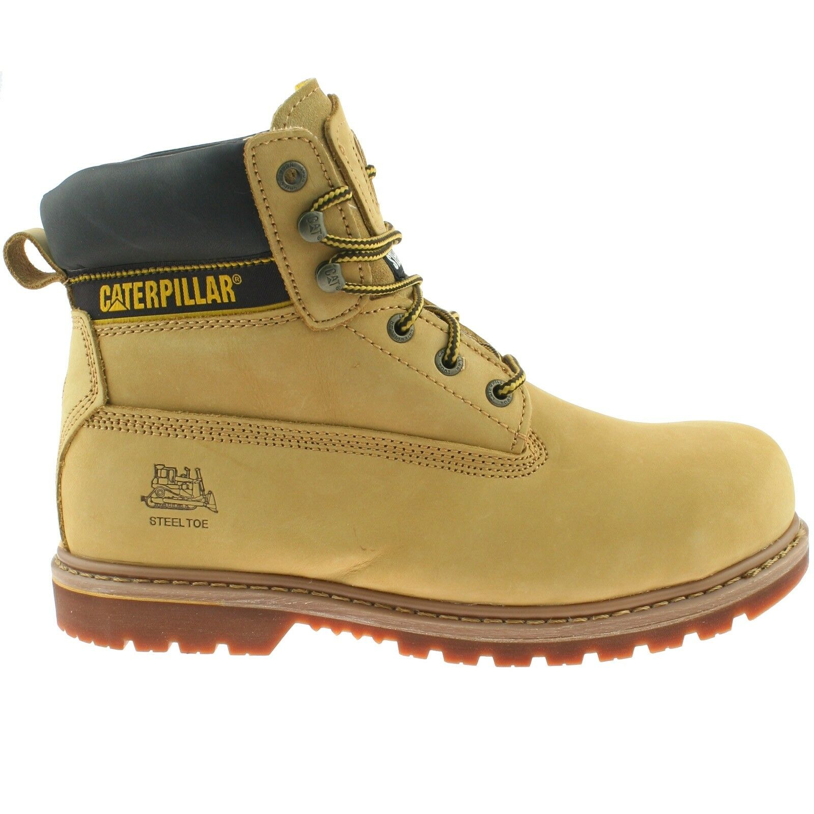 Dedicated Leather Safety Work Boots Lightweight Comfort Steel Toe Womens Caterpillar Tan Work Boots & Shoes Facility Maintenance & Safety