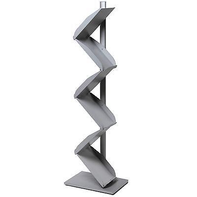 Prospektständer Zick-Zack Katalogständer A4 mit 6 Ablagen, Metall stabil 8,3kg