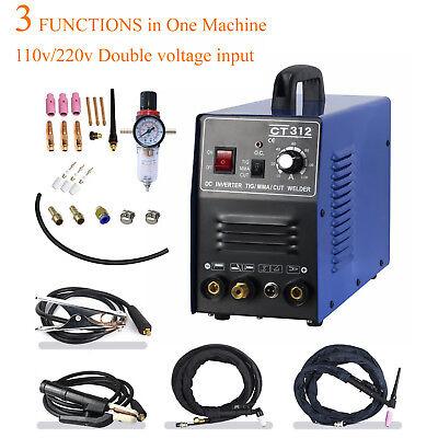 Cuttigmma Air Plasma Cutter Ct312 3 In 1 Combo Welding Machine Usa Stock