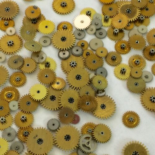 25 Bracelet Minute Wheels Gears Steampunk Watch Patrs Altered Art Repair Vtg Lot