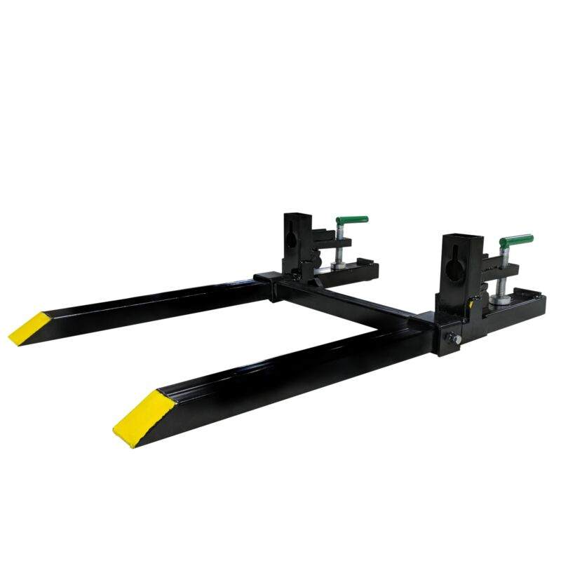 """Titan Attachments Light-Duty Clamp-On Pallet Forks 30"""" with Stabilizer Bar"""