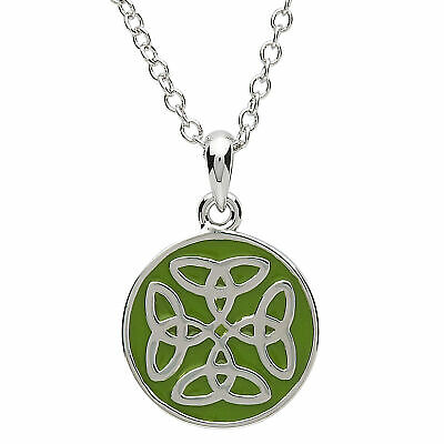 Platinum Plated Celtic Trinity Knot Pendant  Necklace 1/2