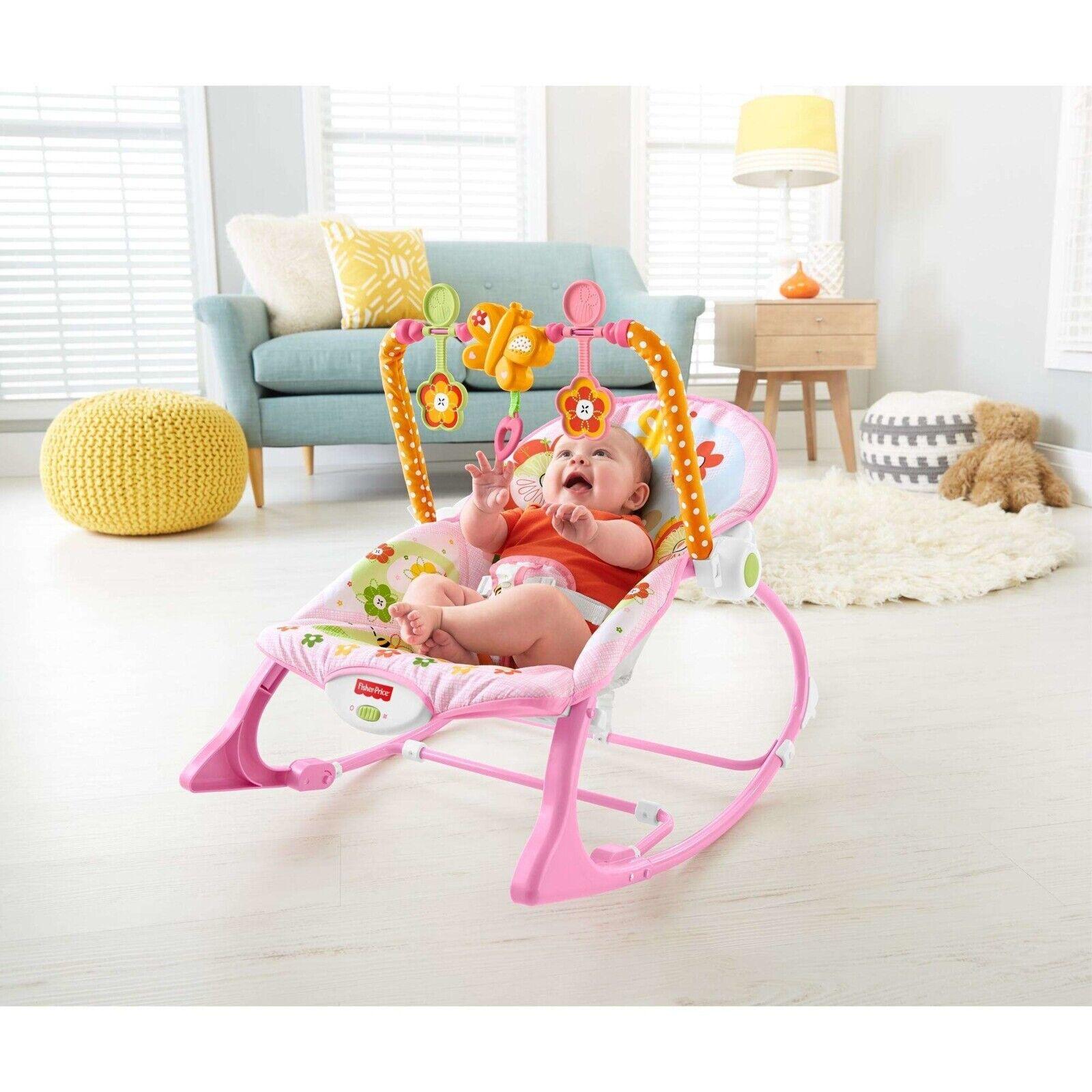 Fisher-Price Infant-to-Toddler Rocker, Dark Safari - Easy Co