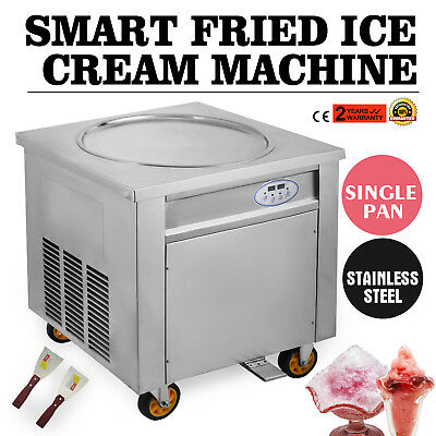 Free Tax Smart Thai Fried Ice Cream Roll Machine Single 50 Cm Pan 110v60hz