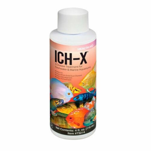 Hikari Ich-X Treats Freshwater Saltwater fish Ick Ich quick cure white spot 4oz