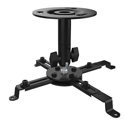 Projector Mount - Universal Ceiling Bracket LCD DLP Tilt 360° Swivel 22lbs Black