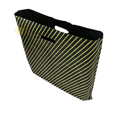 100 x Black & Gold Striped 15 x 18