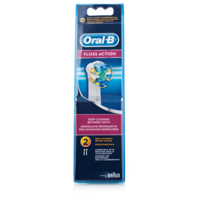 Oral B Floss Action Electric Toothbrush Heads (2pk) FREE Regi Post + Bonuses