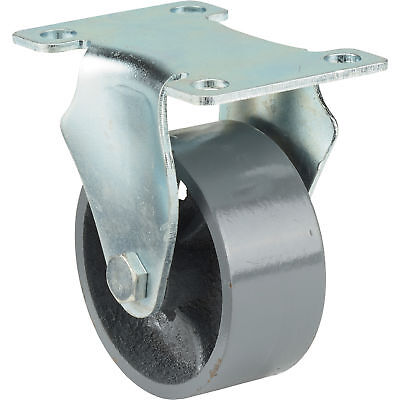Ironton 3in. Rigid Steel Caster - 600-lb. Capacity