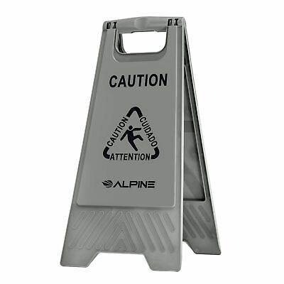 """Alpine Industries Gray 24"""" Caution Wet Floor Sign"""