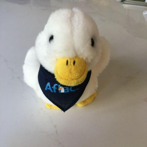 "Aflac Duck plush talking stuffed animal toy blue bandana 6"" - sound works! Promo"