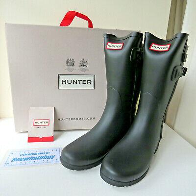 Ladies HUNTER Wellies Original Short Back Adjust Strap Boots, Size UK 4...
