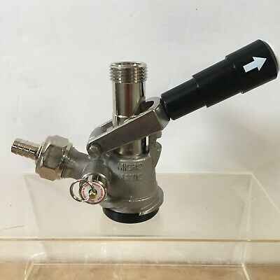 Micro Matic Keg Coupler Sk 184.03 Gas In Sandkey Beer Tap System Black Handle G7