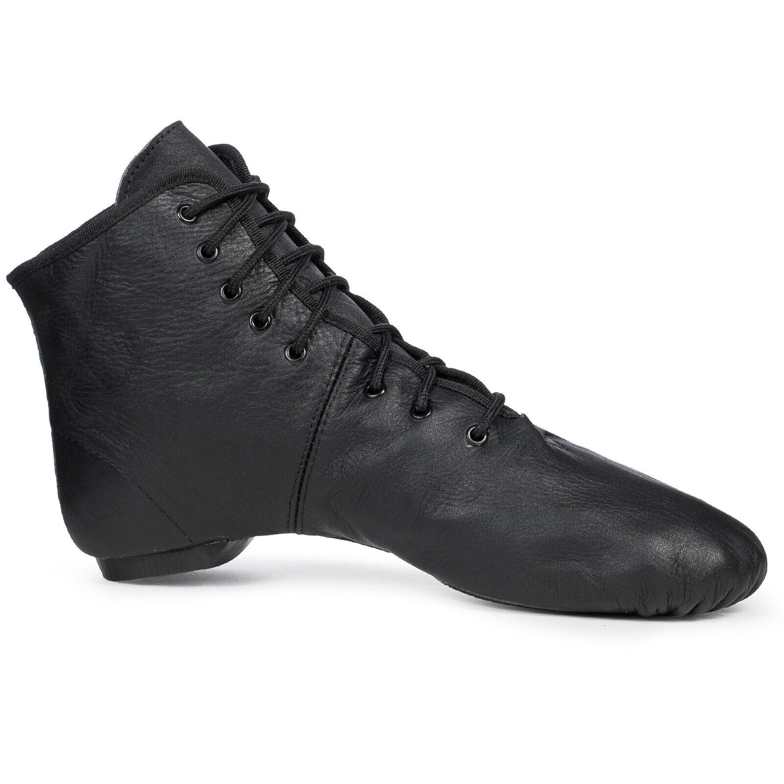 Gardestiefel Tanzstiefel Viva Dance (Leder, geteilte Gummisohle, schwarz, weiss)