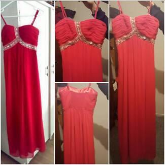 long Red formal dress Telarah Maitland Area Preview