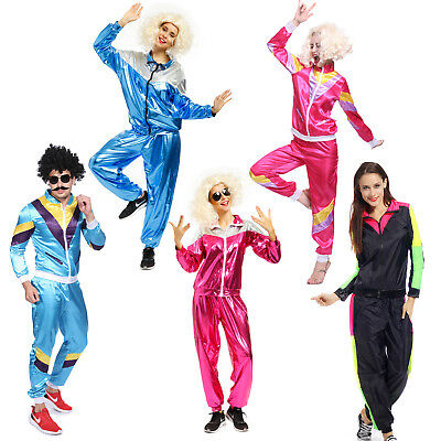 80s Adult Tracksuit Scouser Shellsuit Jacket Trousers Sports Outfit Fancy Dress - 80s Outfit Women