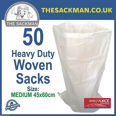 50 Woven Potato Storage Sacks Easy Carry Veg Storage Bags, Onion Veg Bag 45x59cm
