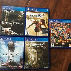 4 sale PlayStation 4 games fallout mortal kombat