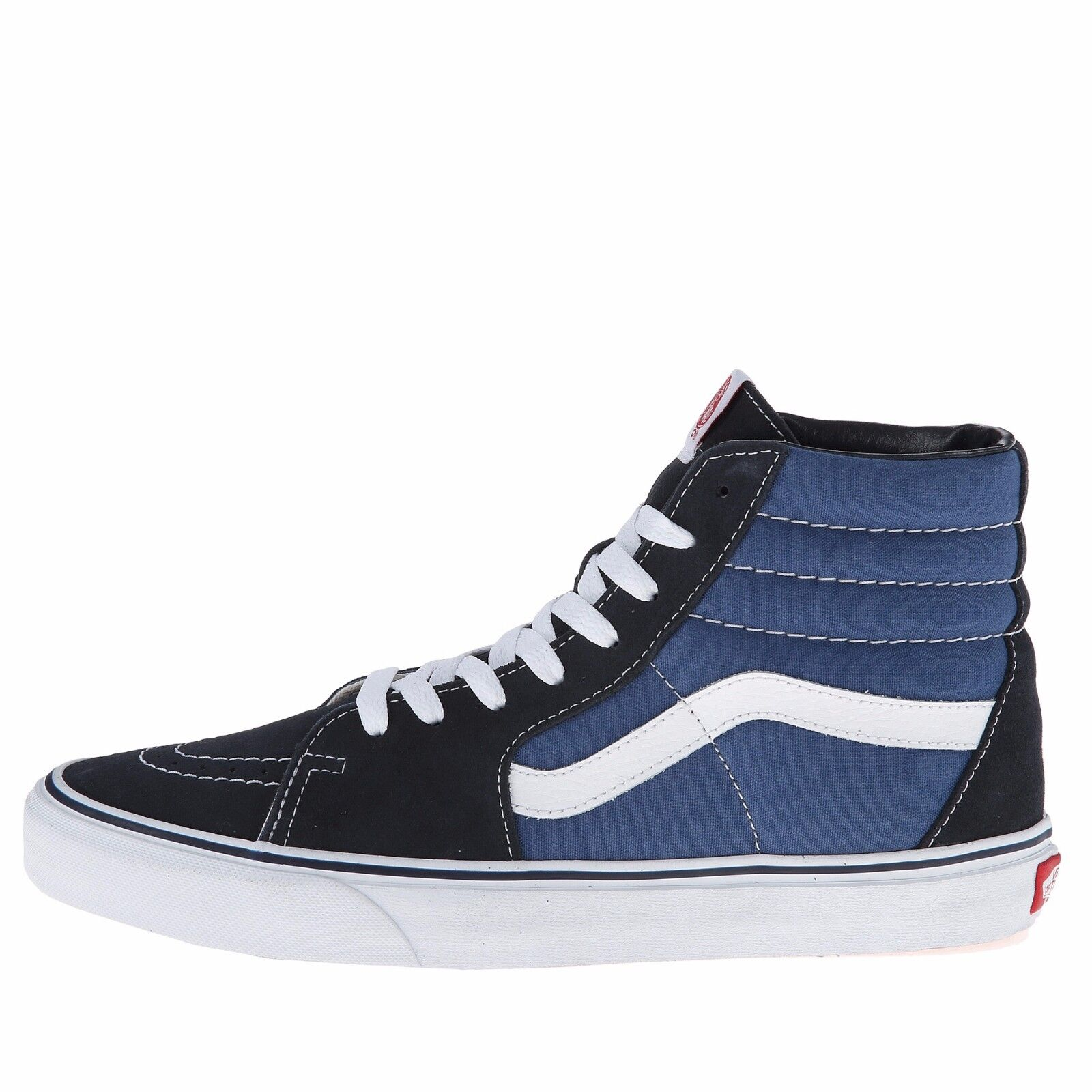 bbd3d476128346 Details about Mens Vans Sk8-Hi Top Fashion Sneaker Core Classic Navy Suede  Canvas All SZs NEW
