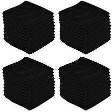 40 x BLACK CAR CLEANING DETAILING MICROFIBER SOFT POLISH CLOTHS TOWELS LINT FREE