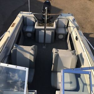 Big 18' Deep and Wide. Water Ready. Boat motor n trailer